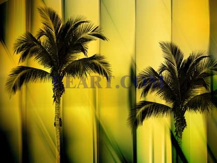 Two Palms  Print On Demand